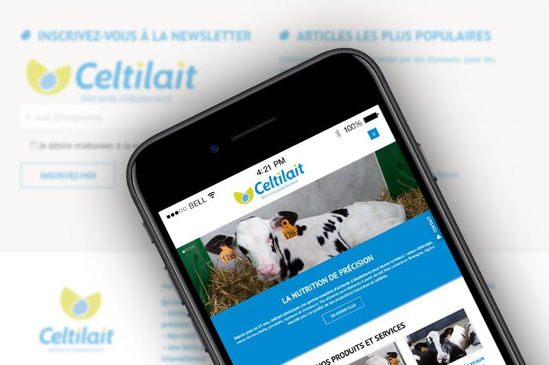Nouveau Site Celtilait.com Disponible Smartphone